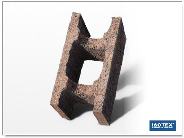ISOTEX - BLOCCO CASSERO IN LEGNO CEMENTO HB 30-19 PER PARETI INTERNE