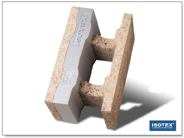 ISOTEX - BLOCCO CASSERO IN LEGNO CEMENTO HDIII 30-7 GRAFITE BASF-NEOPOR
