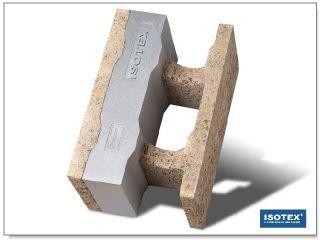 ISOTEX - BLOCCO CASSERO IN LEGNO CEMENTO HDIII 33-10 GRAFITE BASF-NEOPOR