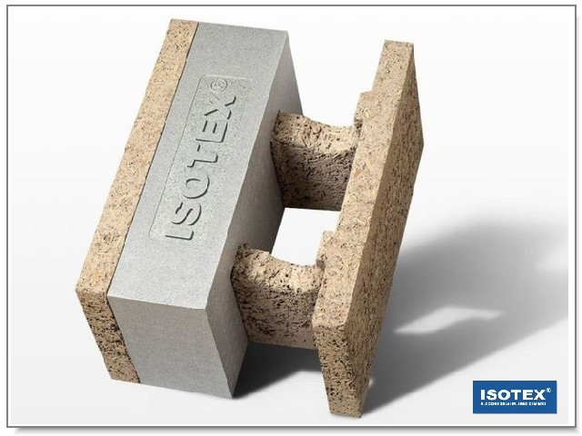 ISOTEX - BLOCCO CASSERO IN LEGNO CEMENTO HDIII 38-14 GRAFITE BASF-NEOPOR