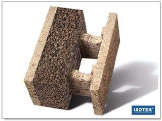ISOTEX - BLOCCO CASSERO IN LEGNO CEMENTO HDIII 38-14 SUGHERO