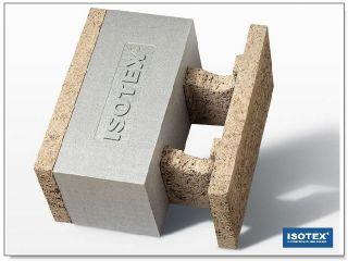 ISOTEX - BLOCCO CASSERO IN LEGNO CEMENTO HDIII 44-20 GRAFITE BASF-NEOPOR